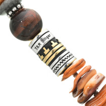 Silver and Gold Hand Crafted Barrel Bead 31011