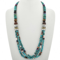 Turquoise Western Style Necklace 31012
