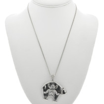 Navajo Bear Pendant with Chain 31022