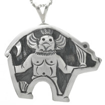 Kachina in Bear Design Sterling Silver 31022