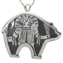 Ogre Kachina Silver Native American Pendant 31023