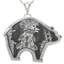 Sterling Silver Bear Pendant 31024