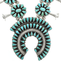 Hand Made Navajo Turquoise Cluster Necklace 31039