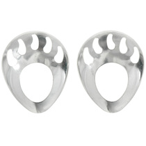 Sterling Silver Shadowbox Bear Paws 925-064
