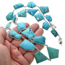 Southwest Turquoise Sterling Silver Necklace 31059