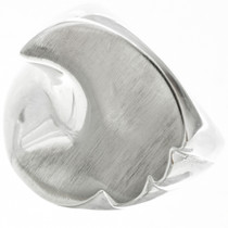Unique Silver Mens Signet Ring 31061