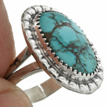 Natural Turquoise Sterling Silver Ring 31096