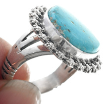 Ladies Turquoise Silver Navajo Ring 31113