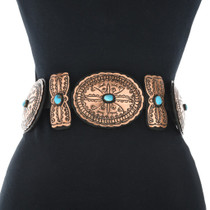 Native American Turquoise Concho Belt 24053
