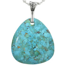 Turquoise Pendant Silver Bale 31122