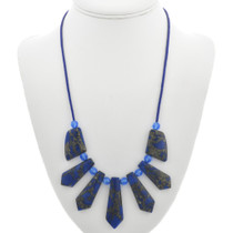 Blue Jasper Crystal Bead Necklace 31130