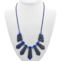 Blue Jasper Crystal Bead Necklace 31130