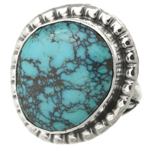 Natural Turquoise Silver Ring 31131