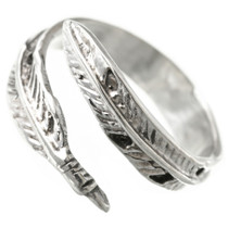 Native American Silver Feather Ring 31141