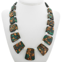 Chunky Green Jasper Necklace 31146