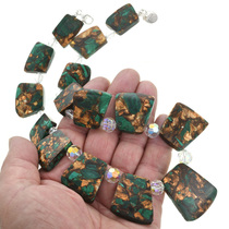 Jasper and Swarovski Crystal Southwestern Necklace 31146