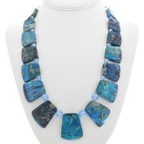 Chunky Blue Jasper Bead Necklace 31152