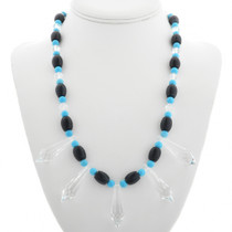 Turquoise Crystal Necklace 31157