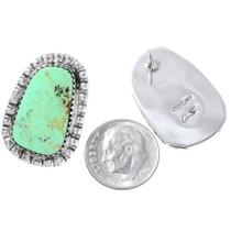 Navajo Green Turquoise Southwest Earrings 31159