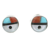 Inlaid Zuni Kachina Stud Earrings 31162