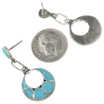Sterling Silver Turquoise Zuni Earrings 31164