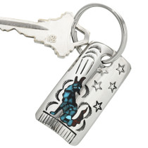 Turquoise Wolf Key Chain 25422
