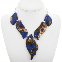 Chunky Lapis Bead Necklace 31174