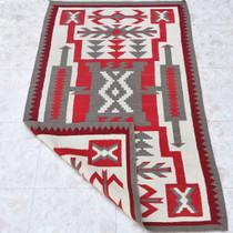 Vintage Native American Navajo Storm Pattern Rug 31178