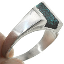 Navajo Turquoise Inlay Ring 31207
