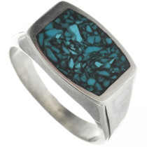 Navajo Turquoise Inlay Ring 31211