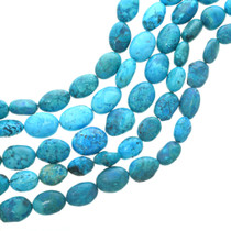 Large Oval Turquoise Magnesite Beads 30828