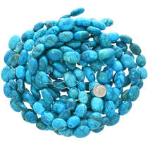 Blue Diamond Blue Magnesite Bead Strand 30828