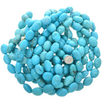Oval Turquoise Magnesite Beads 30829