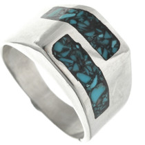 Silver Turquoise Signet Ring 31215