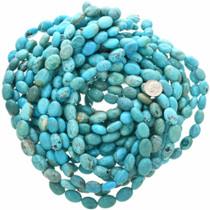 Polished Turquoise Magnesite Oval Bead Strand 30833
