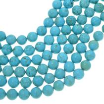 Large Round Turquoise Magnesite Beads 30835
