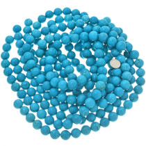 Turquoise Color Magnesite Bead Strand 30837