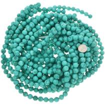 Round Turquoise Magnesite Strand 30838
