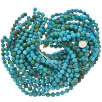 Blue Green Turquoise Magnesite Bead Strand 30840