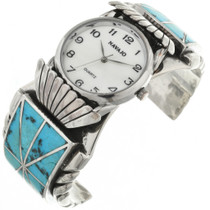 Vintage Navajo Turquoise Watch Cuff 31218