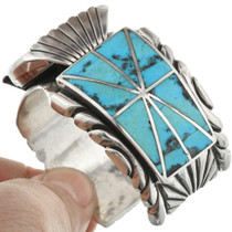 Sleeping Beauty Turquoise Inlay Sterling Silver Watch 31218