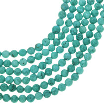 Round Sea Green Turquoise Magnesite Beads 30845