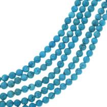 Round Turquoise Magnesite Bead Strand 30846