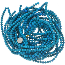 7mm Turquoise Magnesite Bead Strands 30847