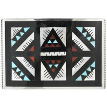 Old Pawn Inlaid Zuni Belt Buckle 31244