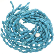 Turquoise Magnesite Tapered Tube Beads 30852