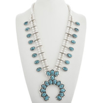 Turquoise Squash Blossom Necklace 31251