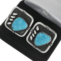Old Pawn Turquoise Cuff Links 31258