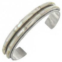 Old Pawn Zuni Shell Inlay Bracelet 31260