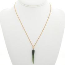 Jade Horn Gold Pendant